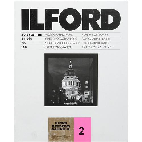 Ilford Ilfobrom Galerie Fiber-Based Paper (8 x 10', Grade 2, 100 Sheets, Glossy)