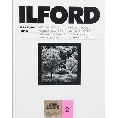 "Ilford Ilfobrom Galerie Fiber-Based Paper (11 x 14"", Grade 2, 50 Sheets, Glossy)"