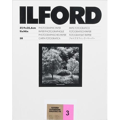 "Ilford ILFOBROM GALERIE FB Paper (Glossy, Grade 3, 11 x 14"", 50 Sheets)"