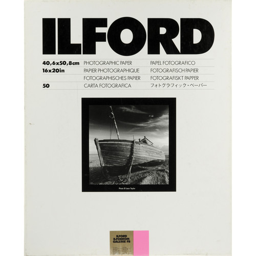 Ilford Ilfobrom Galerie Fiber-Based Paper (16 x 20', Grade 2, 50 Sheets, Glossy)
