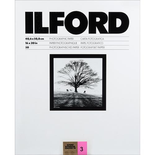 "Ilford ILFOBROM GALERIE FB Paper (Glossy, Grade 3, 16 x 20"", 50 Sheets)"