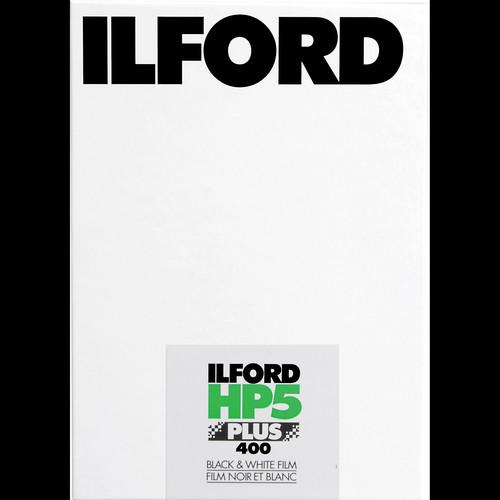 "Ilford HP5 Plus Black and White Negative Film (4 x 5"", 100 Sheets)"