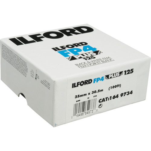 Ilford FP4 Plus Black and White Negative Film (35mm Roll Film, 100' Roll)