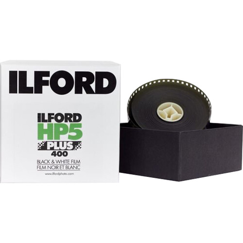 Ilford HP5 Plus Black and White Negative Film (35mm Roll Film, 100' Roll)