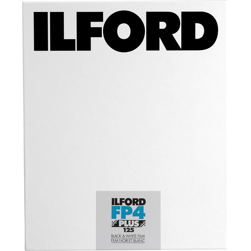 "Ilford FP4 Plus Black and White Negative Film (8 x 10"", 25 Sheets)"