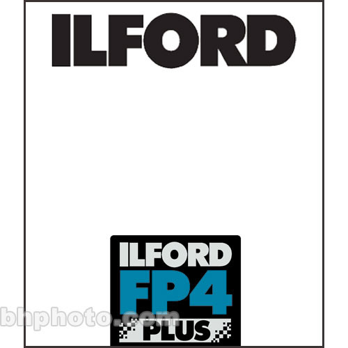 "Ilford FP4 Plus Black and White Negative Film (10 x 12"", 25 Sheets)"