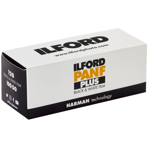 Ilford Pan F Plus Black and White Negative Film (120 Roll Film)
