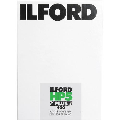 "Ilford HP5 Plus Black and White Negative Film (11 x 14"", 25 Sheets)"