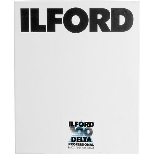 """Ilford Delta 100 Professional Black and White Negative Film (4 x 5"""", 25 Sheets)"""