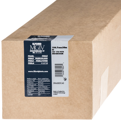 "Ilford Multigrade IV RC Deluxe MGD.44M Black & White Variable Contrast Paper (40"" x 98' Roll, Pearl)"
