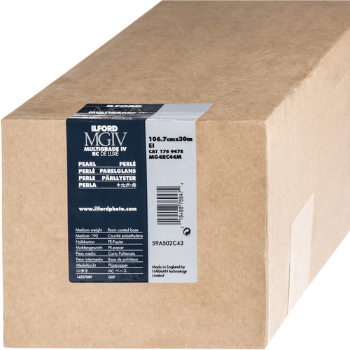 "Ilford Multigrade IV RC Deluxe MGD.44M Black & White Variable Contrast Paper (42"" x 98' Roll, Pearl)"