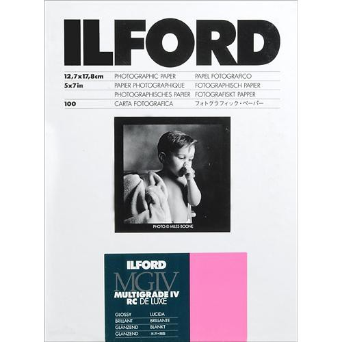 "Ilford Multigrade IV RC Deluxe MGD.1M Black & White Variable Contrast Paper (5 x 7"", Glossy, 100 Sheets)"