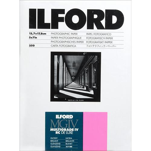 """Ilford Multigrade IV RC Deluxe MGD.1M Black & White Variable Contrast Paper (5 x 7"""", Glossy, 250 Sheets)"""