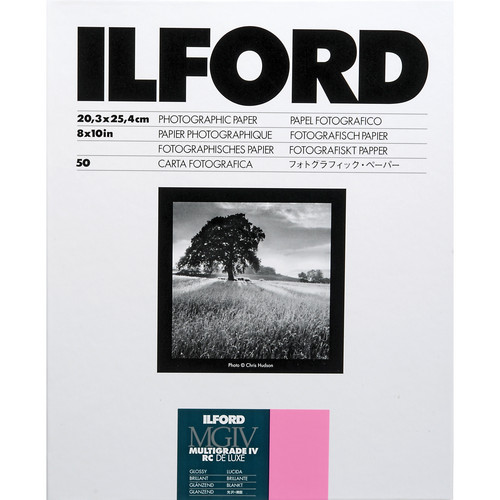 "Ilford Multigrade IV RC DeLuxe Paper (Glossy, 8 x 10"", 50 Sheets)"