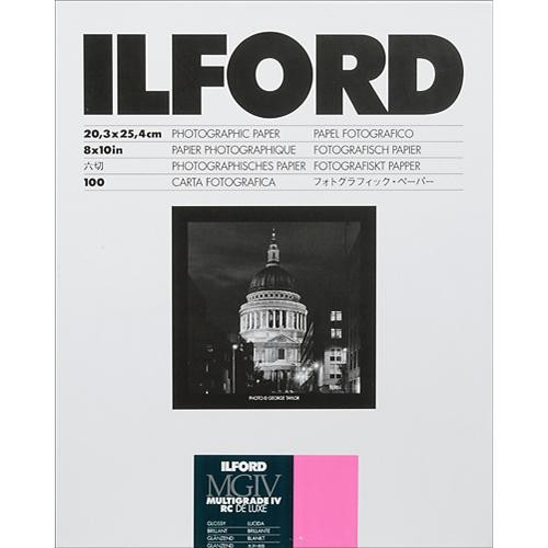"Ilford Multigrade IV RC Deluxe MGD.1M Black & White Variable Contrast Paper (8 x 10"", Glossy, 100 Sheets)"