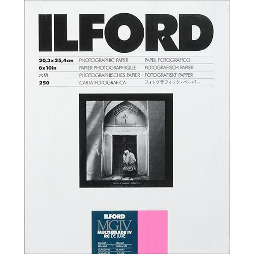 "Ilford Multigrade IV RC DeLuxe Paper (Glossy, 8 x 10"", 250 Sheets)"