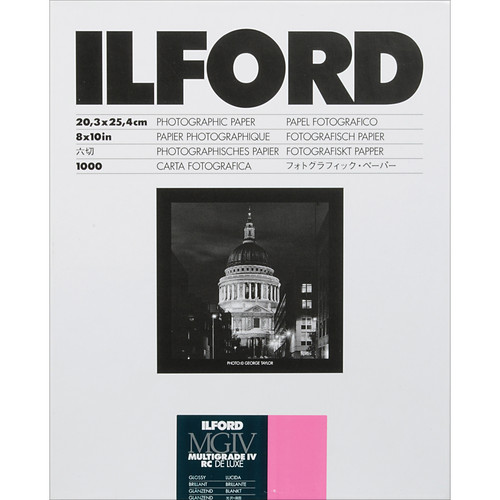 "Ilford Multigrade IV RC DeLuxe Paper (Glossy, 8 x 10"", 1000 Sheets)"