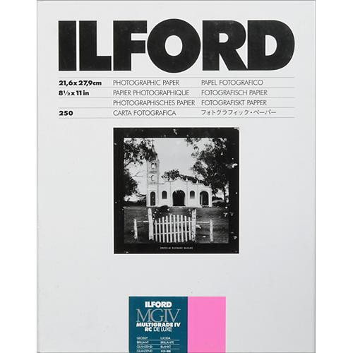 "Ilford Multigrade IV RC Deluxe MGD.1M Black & White Variable Contrast Paper (8.5 x 11"", Glossy, 250 Sheets)"