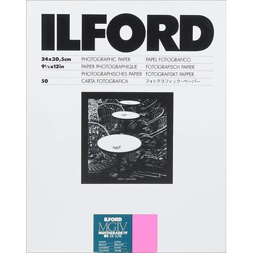 "Ilford Multigrade IV RC DeLuxe Paper (Glossy, 9.5 x 12"", 50 Sheets)"
