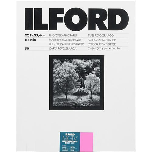 "Ilford Multigrade IV RC Deluxe MGD.1M Black & White Variable Contrast Paper (11 x 14"", Glossy, 50 Sheets)"