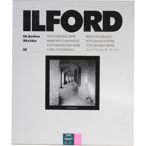 "Ilford Multigrade IV RC Deluxe MGD.1M Black & White Variable Contrast Paper (20 x 24"", Glossy, 50 Sheets)"