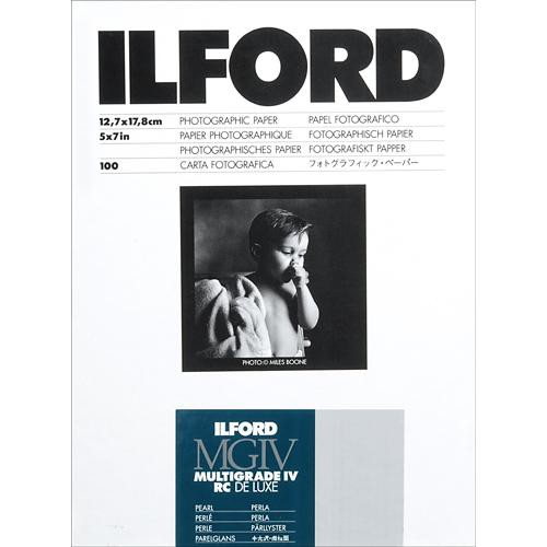"Ilford Multigrade IV RC Deluxe MGD.44M Black & White Variable Contrast Paper (5 x 7"", Pearl, 100 Sheets)"