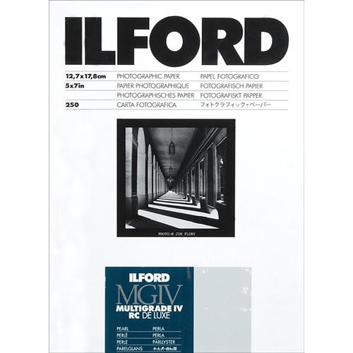 """Ilford Multigrade IV RC Deluxe MGD.44M Black & White Variable Contrast Paper (5 x 7"""", Pearl, 250 Sheets)"""