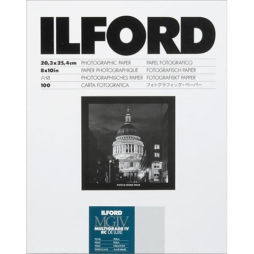 "Ilford Multigrade IV RC Deluxe MGD.44M Black & White Variable Contrast Paper (8 x 10"", Pearl, 100 Sheets)"