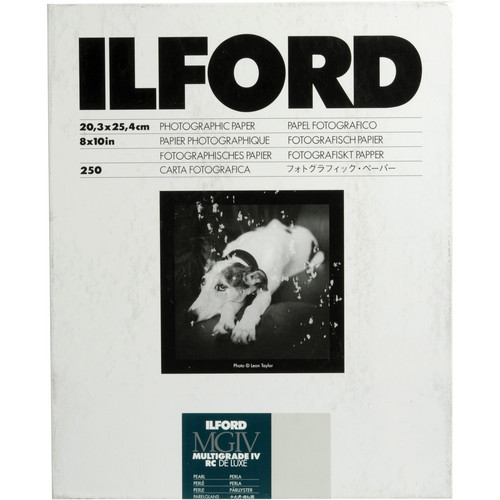 "Ilford Multigrade IV RC DeLuxe Paper (Pearl, 8 x 10"", 250 Sheets)"