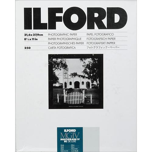"Ilford Multigrade IV RC Deluxe MGD.44M Black & White Variable Contrast Paper (8.5 x 11"", Pearl, 250 Sheets)"