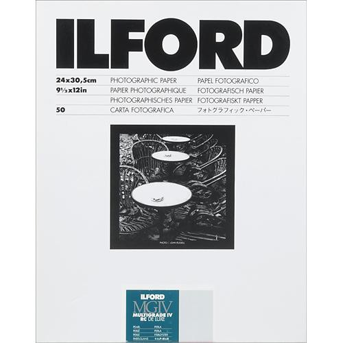 """Ilford Multigrade IV RC DeLuxe Paper (Pearl, 9.5 x 12"""", 50 Sheets)"""