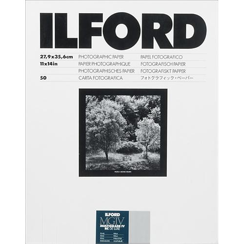 "Ilford Multigrade IV RC Deluxe MGD.44M Black & White Variable Contrast Paper (11 x 14"", Pearl, 50 Sheets)"