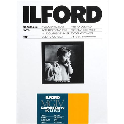 "Ilford Multigrade IV RC DeLuxe Paper (Satin, 5 x 7"", 100 Sheets)"