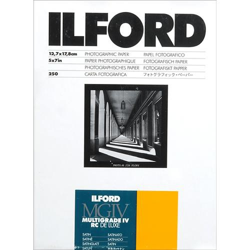 "Ilford Multigrade IV RC Deluxe MGD.25M Black & White Variable Contrast Paper (5 x 7"", Satin, 250 Sheets)"