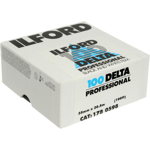 Ilford Delta 100 Professional Black and White Negative Film (35mm Roll Film, 100' Roll)