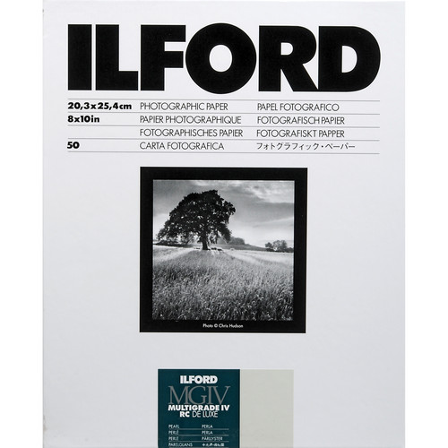 "Ilford Multigrade IV RC Deluxe MGD.44M Black & White Variable Contrast Paper (8 x 10"", Pearl, 50 Sheets)"