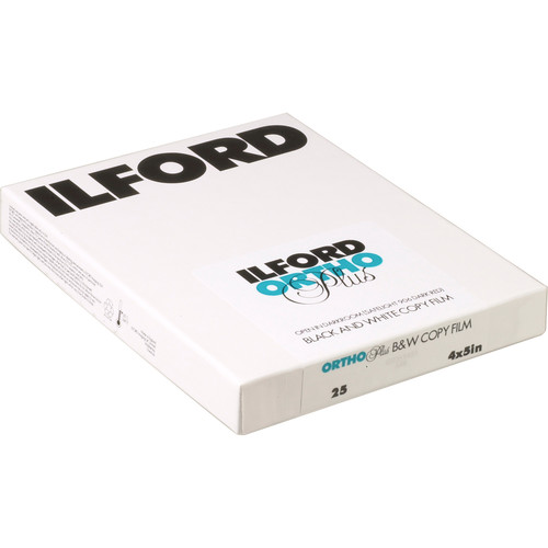 "Ilford Ortho Plus Black and White Negative Film (4 x 5"", 25 Sheets)"