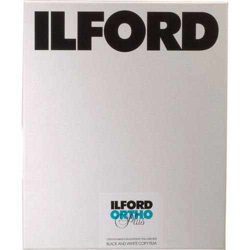 "Ilford Ortho Plus 8x10"" B/W Negative Film - 25 Sheets"