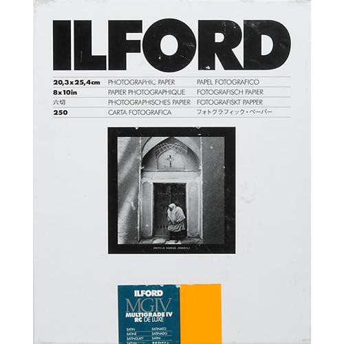 "Ilford Multigrade IV RC Deluxe MGD.25M Black & White Variable Contrast Paper (8 x 10"", Satin, 250 Sheets)"