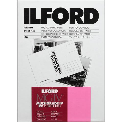 "Ilford Multigrade IV RC Portfolio Post Card Size Black & White Paper (4 x 6"", Glossy, 100 Sheets)"