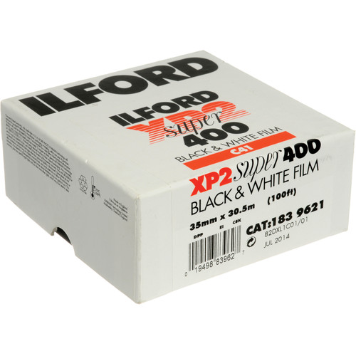 Ilford XP2 Super Black and White Negative Film (35mm Roll Film, 100' Roll)