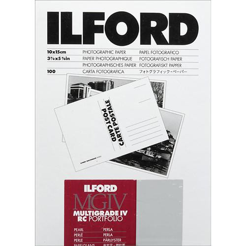 "Ilford Multigrade IV RC Portfolio Post Card Size Black & White Paper (4 x 6"", Pearl, 100 Sheets)"