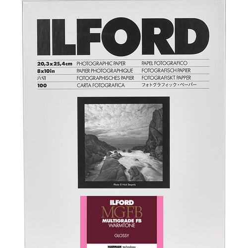 "Ilford Multigrade FB Warmtone Paper (Glossy, 8 x 10"" , 100 Sheets)"