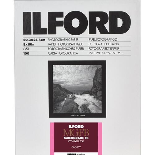 """Ilford Multigrade FB Warmtone Paper (Glossy, 8 x 10"""" , 100 Sheets)"""