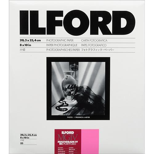 "Ilford Multigrade IV RC Portfolio Paper (Glossy, 8 x 10"", 25 Sheets)"