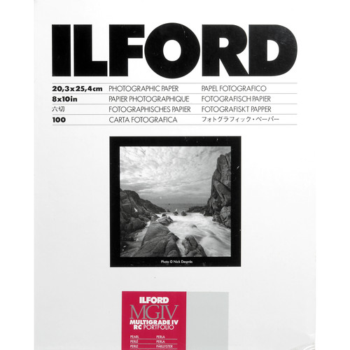 "Ilford Multigrade IV RC Portfolio Black & White Paper (8 x 10"", Pearl, 100 Sheets)"