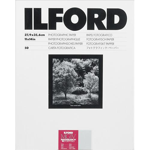 "Ilford Multigrade IV RC Portfolio Black & White Paper (11 x 14"", Pearl, 50 Sheets)"