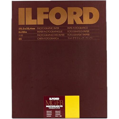 "Ilford Multigrade FB Warmtone Paper (Semi-Matt, 8 x 10"" , 100 Sheets)"