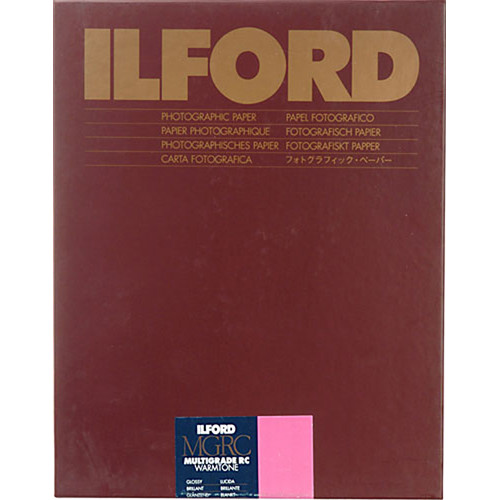 """Ilford Multigrade Warmtone Resin Coated Paper (9.5 x 12"""", Glossy, 50 Sheets)"""