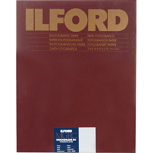 """Ilford Multigrade Warmtone Resin Coated Paper (5 x 7"""", Pearl, 100 Sheets)"""